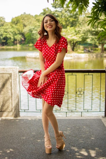 Red-polka-dot-dress