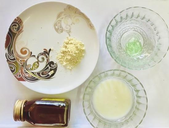 How-to-make-aloe-vera-gram-flour-face-mask